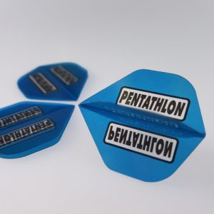 Pentathlon Flights blau - 1 Set mit 3 Flights