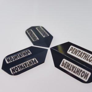 Pentathlon Flights schwarz - 1 Set mit 3 Flights